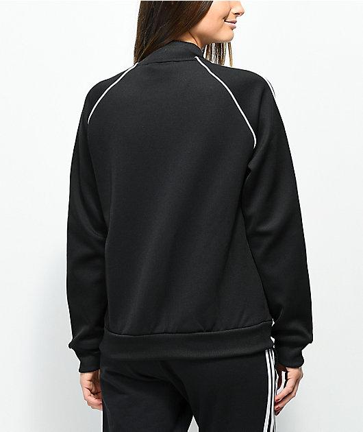 adidas 3 Stripe chaqueta negra de chándal
