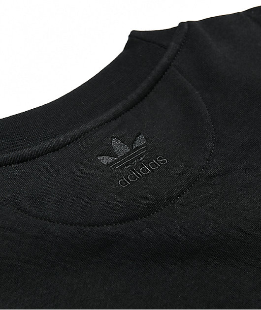 adidas 3D Trefoil Black Crew Neck Sweatshirt