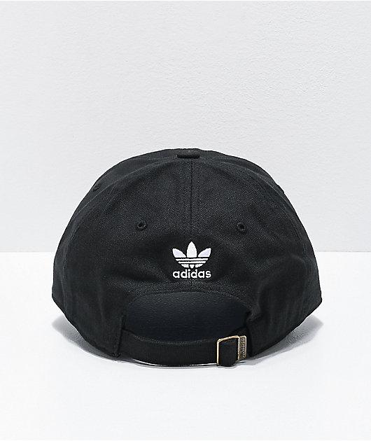 adidas 3D Trefoil Black Strapback Hat