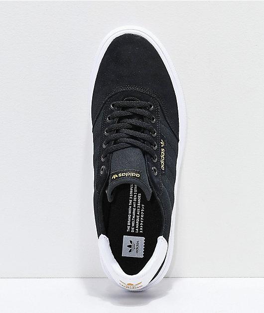 adidas 3MC Black, Gold & White Shoes