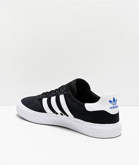 adidas 3MC Black, White, Red & Blue Shoes
