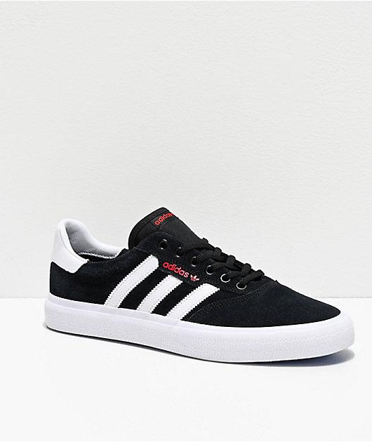 civilización collar herir  adidas 3MC Black, White, Red & Blue Shoes | Zumiez