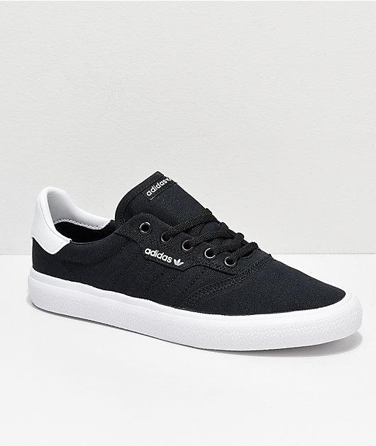 adidas 3MC Black \u0026 White Canvas Shoes