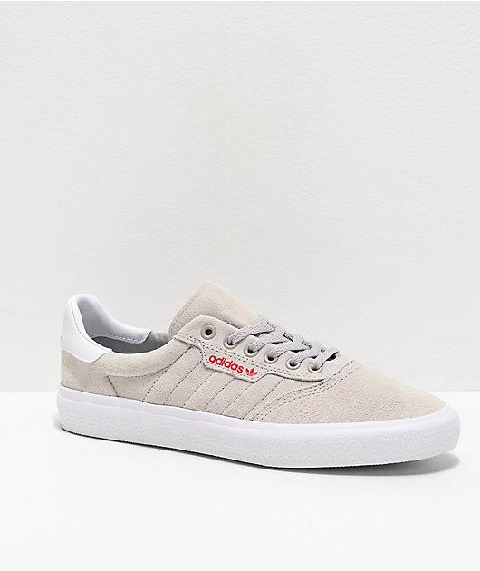 adidas 3MC Grey, White & Scarlet Shoes