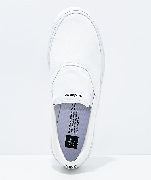 adidas 3MC White & Black Slip-On Shoes