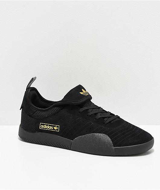 adidas 3ST.003 Black, White & Gold Shoes