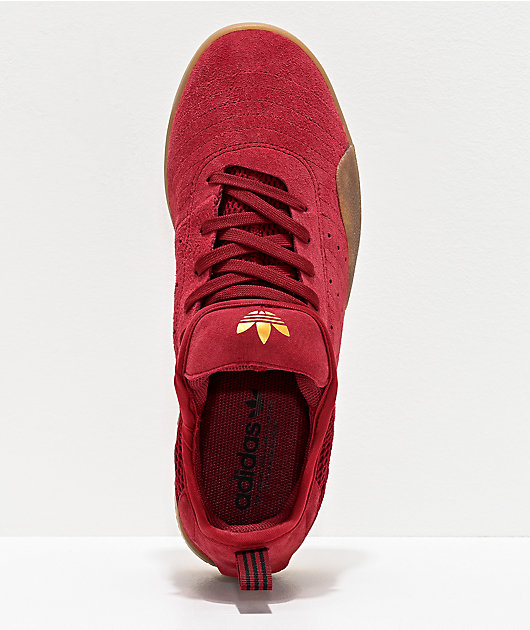 adidas 3ST.003 Burgundy & Gum Shoes
