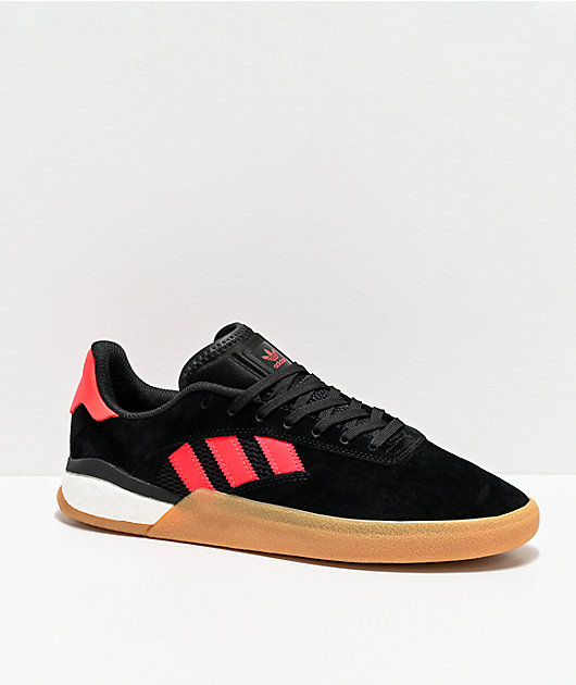 adidas 3ST.004 Black, Solar Red & White Shoes
