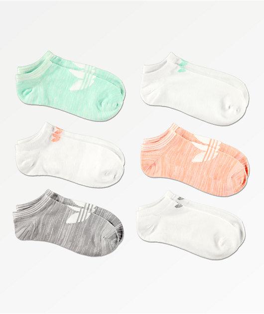 adidas 6 Pack Space Dye Super No Show Socks