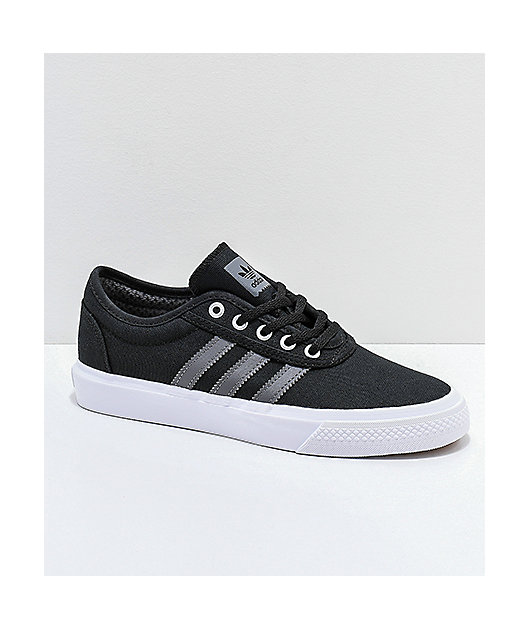 Nube límite Pagar tributo  adidas AdiEase Black, White & Grey Shoes | Zumiez