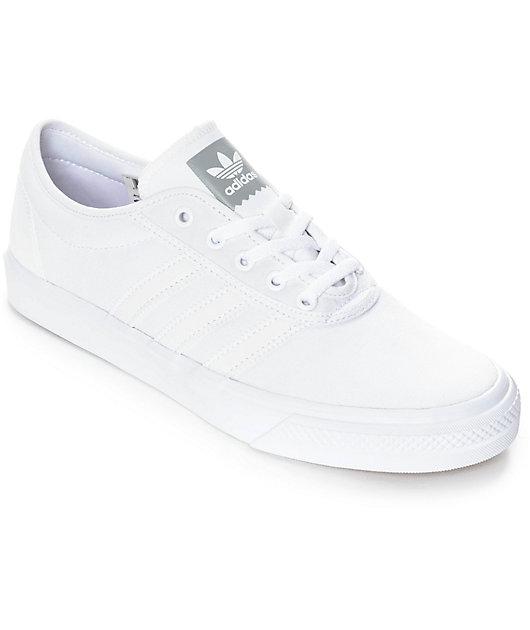 adidas AdiEase Mono White Canvas Shoes