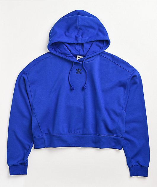 adidas Adicolor Bold Blue Crop Hoodie