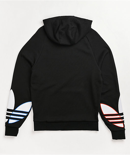 adidas Adicolor Tricolor Trefoil Black Hoodie