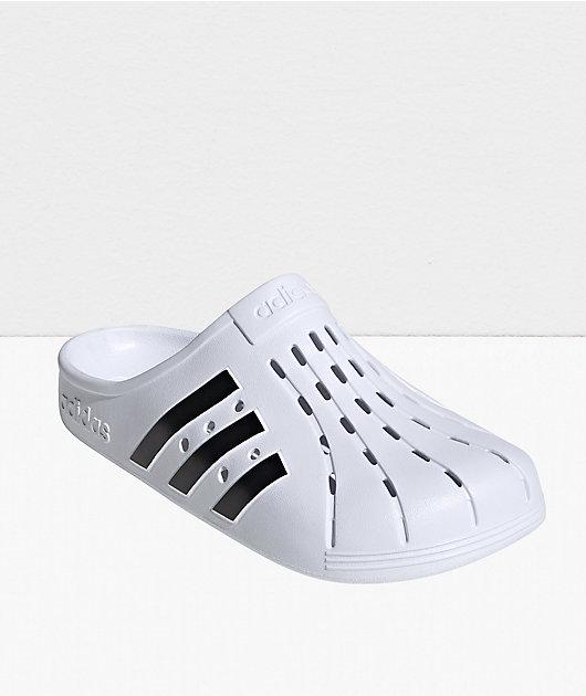adidas Adilette Black & White Clog Shoes
