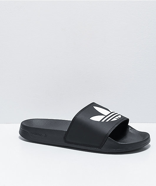 adidas Adilette Lite Black & White Slide Sandals