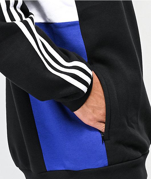 adidas Apian Insley Black, White & Blue Sweatshirt