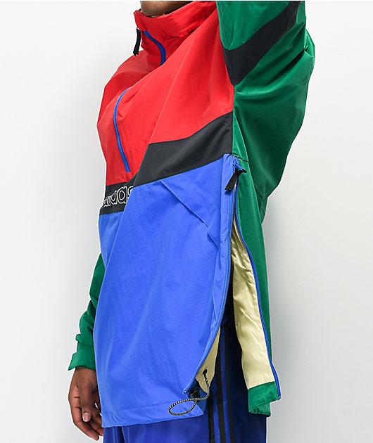 adidas BB Snowbreaker Green & Red 10K Snowboard Jacket
