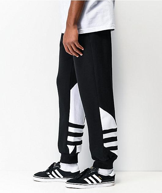 adidas Big Trefoil pantalones deportivos negros