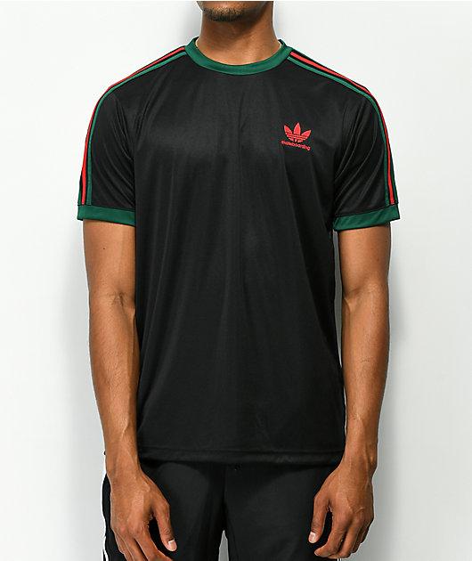 adidas Black, Red & Green Skate Jersey