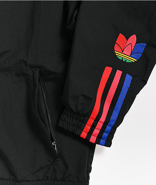 adidas Black & Multicolor Track Jacket