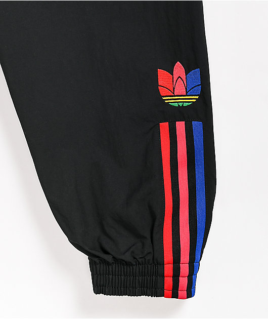 adidas Black & Multicolor Track Pants