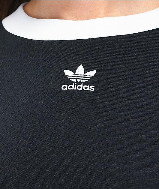adidas Black Crop T-Shirt