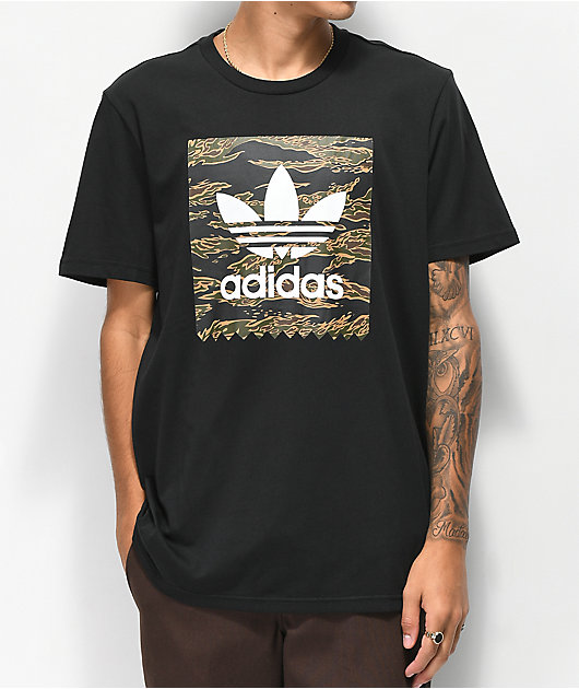 adidas Blackbird Camo Fill Black T-Shirt