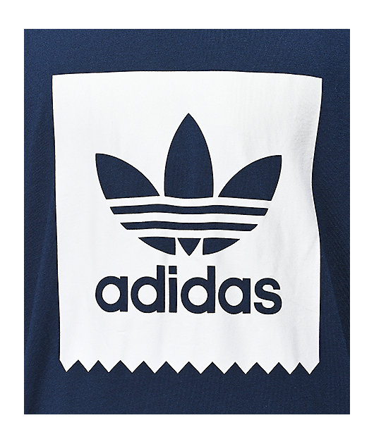 adidas Blackbird Navy & White Long Sleeve T-Shirt
