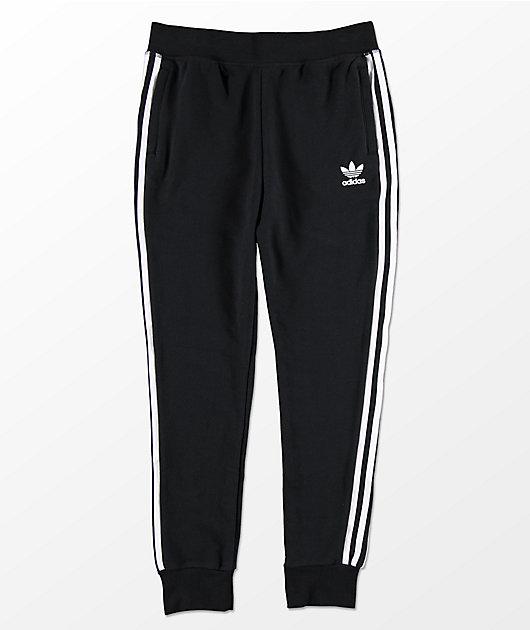 adidas Boys Trefoil Black Sweatpants