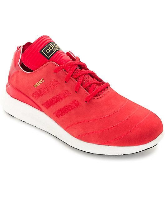 Calamidad mi calina  adidas Busenitz Boost Red & White Shoes | Zumiez