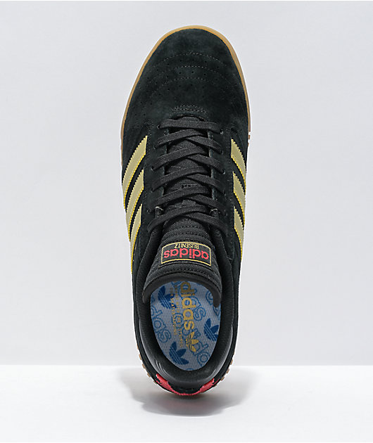adidas Busenitz Indoor Super Black & Gold Shoes