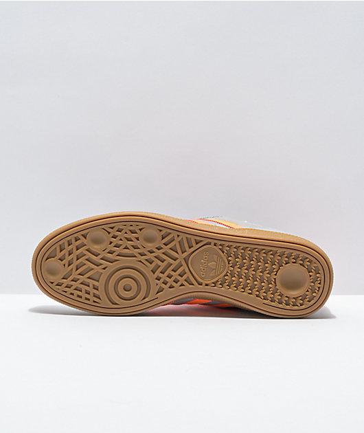 adidas Busenitz Silver & Signal Orange Shoes
