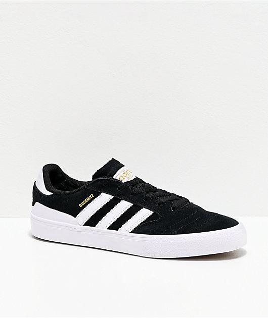 adidas Busenitz Vulc II Black, White & Gum Shoes