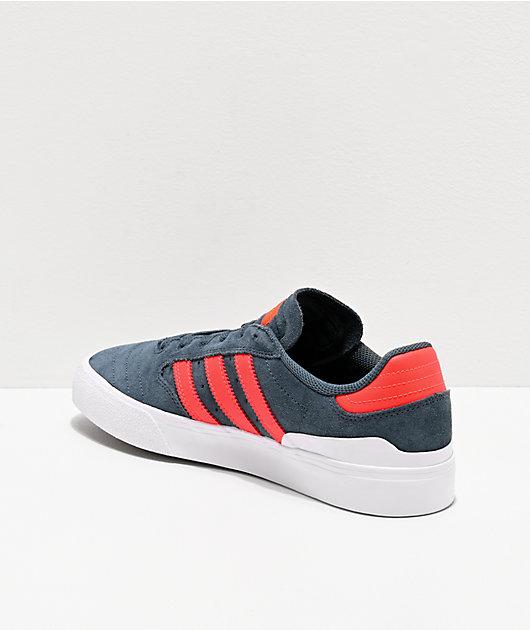 adidas Busenitz Vulc II Blue, Red & White Shoes
