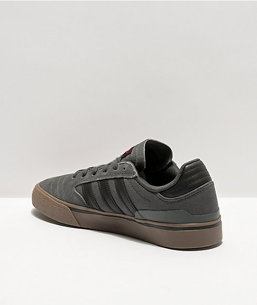 adidas Busenitz Vulc II Grey, Black, & Gum Shoes