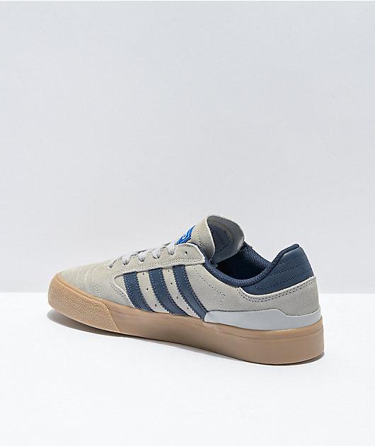 adidas Busenitz Vulc II Grey, Navy & Gum Shoes