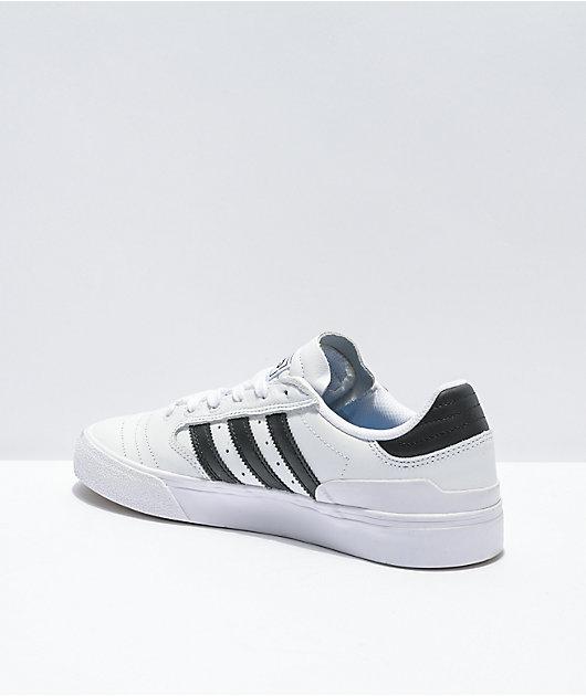adidas Busenitz Vulc II White, Black, & Gold Skate Shoes