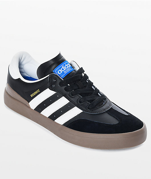 adidas Busenitz Vulc Samba RX Black & White Shoes | Zumiez