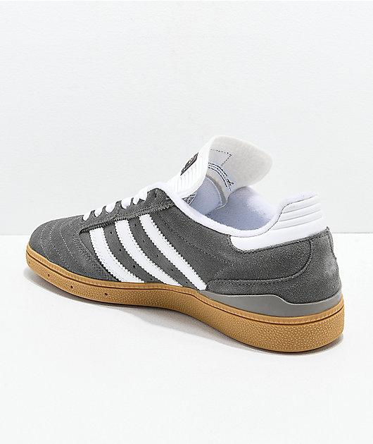 adidas Busentiz Cinder Grey, White & Gum Shoes