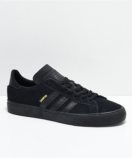 melocotón Inapropiado Sarabo árabe  adidas Campus Vulc II All Black Shoes | Zumiez