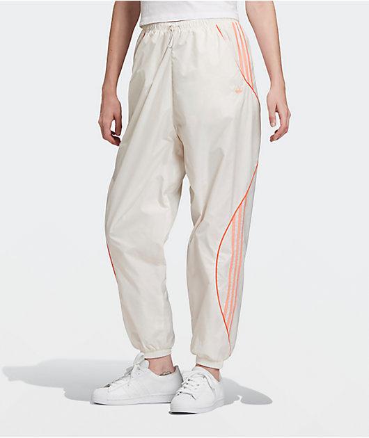 adidas Chalk White & Pink Track Pants