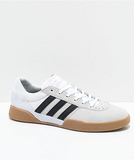 adidas City Cup White, Black \u0026 Gum