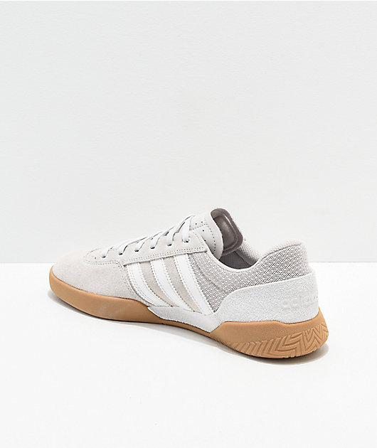 adidas City Cup White Chalk & Gum Shoes