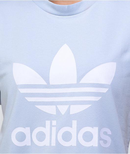 adidas Classic Trefoil Halo Blue T-Shirt