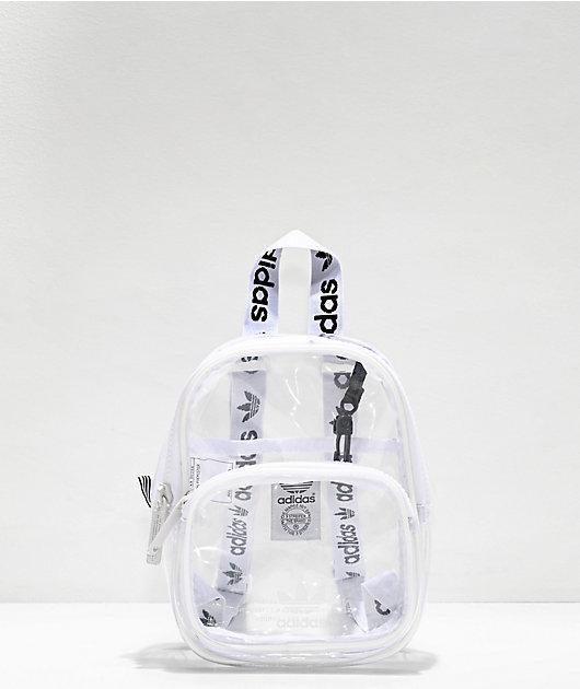 adidas Clear & White Mini Backpack