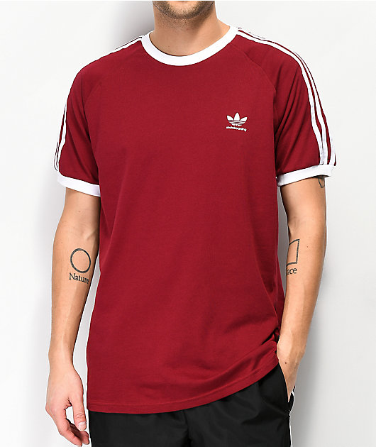 adidas Clima California 2.0 Burgundy T-Shirt