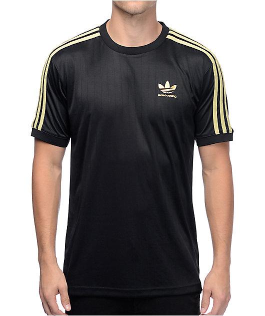 adidas Clima Club Black & Gold Jersey