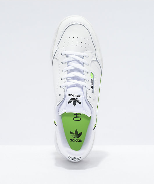 adidas Continental 80 White & Signal Green Shoes
