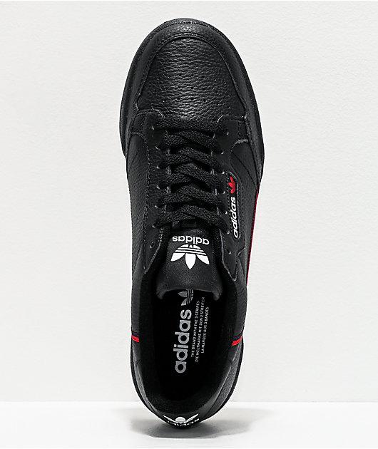 adidas Continental 80 zapatos en escarlata y negro