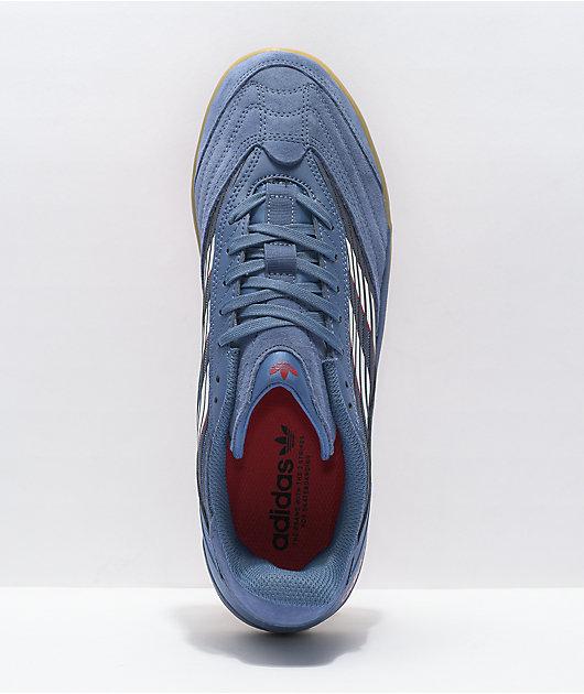 adidas Copa Nationale Blue, White & Gum Shoes